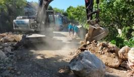 Söğüt yaylası ve Çamlıca grup yolunda asfalt için düğmeye basıldı