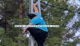Alanya'da 1 kişi elektrik direğinde ölü bulundu!