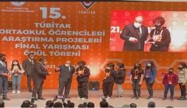 Alanyalı öğrencilere TÜBİTAK ödülü