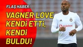 Vagner Love kendi etti, kendi buldu!