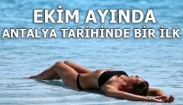 Ekim ayında, Antalya tarihinde bir ilk