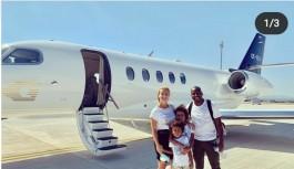 Özel uçak kiraladı ve Alanyaspor'a veda etti!