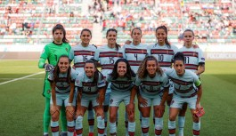 Portekiz kadın futbol milli takımı Alanya Goldctiy otele geldi