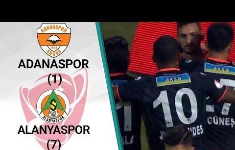 Adanaspor 1 - 7 Alanyaspor MAÇ ÖZETİ (Ziraat Türkiye Kupası 5. Tur Rövanş Maçı)