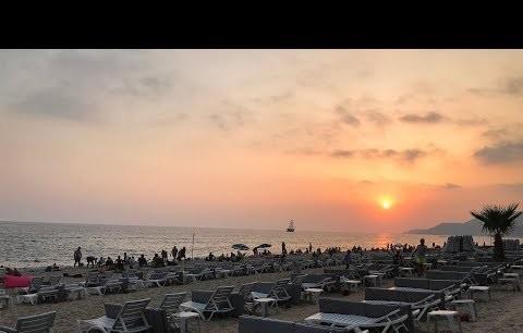 Alanya Damlataş Plajı (Muhteşem Gün Batımı Manzarası) izlemeden geçmeyin!