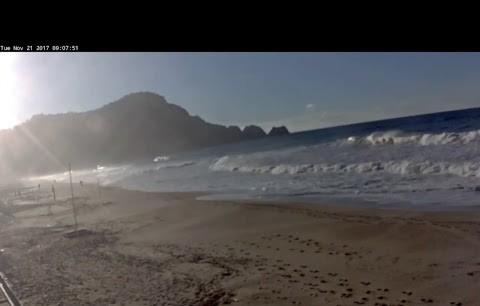 Alanya sahilinden canlı