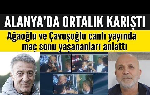 Alanya-Trabzon maçı sonrası ortalık karıştı! Ağaoğlu ve Çavuşoğlu yaşananları anlattı!