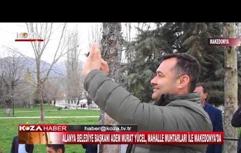 Alanyalı muhtarlar Makedonya'da tarihi camiyi ziyaret etti