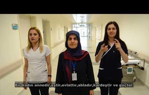 ALKÜ Alanya Eğitim ve Araştırma Hastanesinden kadınlar günü kutlaması