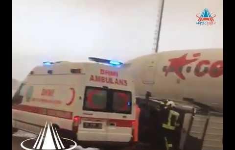 Antalya Havalimanı'nda hortum dehşet saçtı!