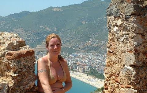 Turistin kamerasıyla Alanya