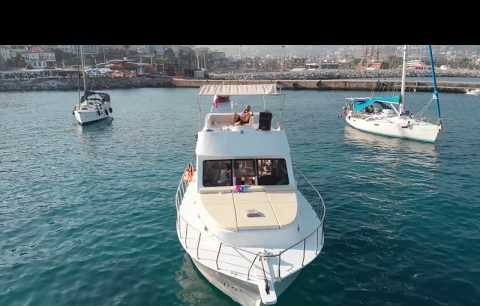 Yachting in Antalya Alanya in 4K Recorded with Drone