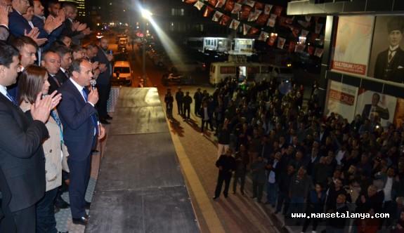 DP adayı Çakır'a, genel başkan desteği