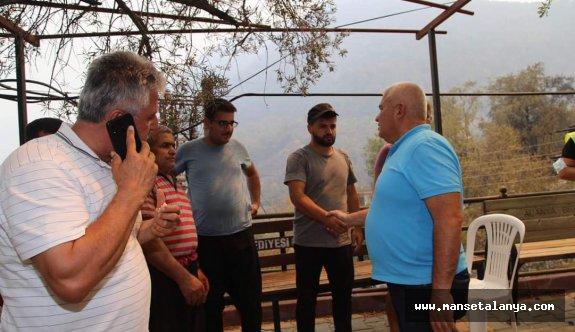 Şahin'den yangınzedelere destek