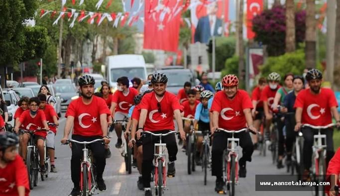 Alanya Gençlik ve Spor müdürlüğünden bisiklet şöleni!