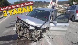 Gazipaşa'da zincirleme trafik kazası: 3 yaralı