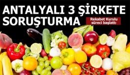 Rekabet Kurulu Antalya'da 3 şirkete soruşturma açtı