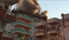Apart otelinde yangın!