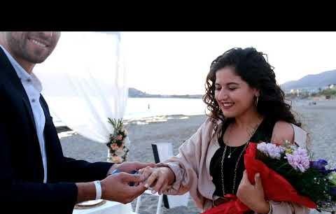 Alanya'da kale manzaralı evlilik teklifi